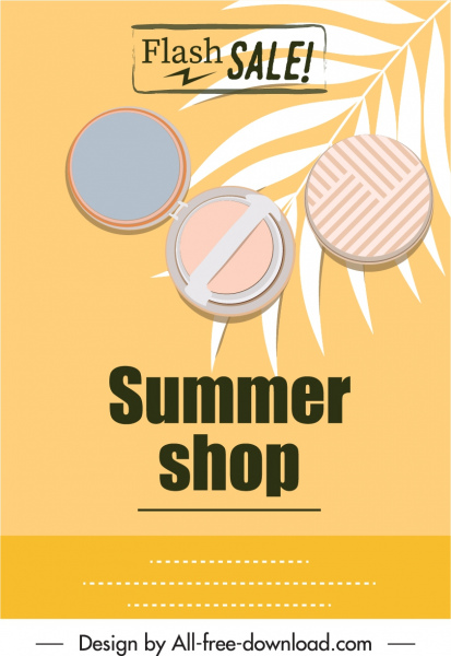 Summer sale flyer cosmetic icon sketch Free vector in Adobe