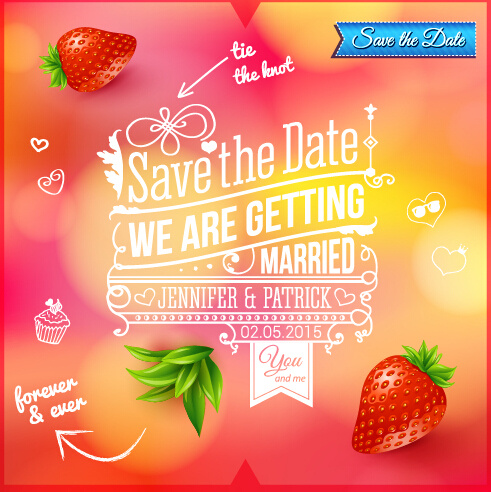 Summer Style Wedding Invitation Background Vector