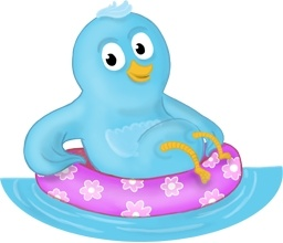 Summer swim ring follow me