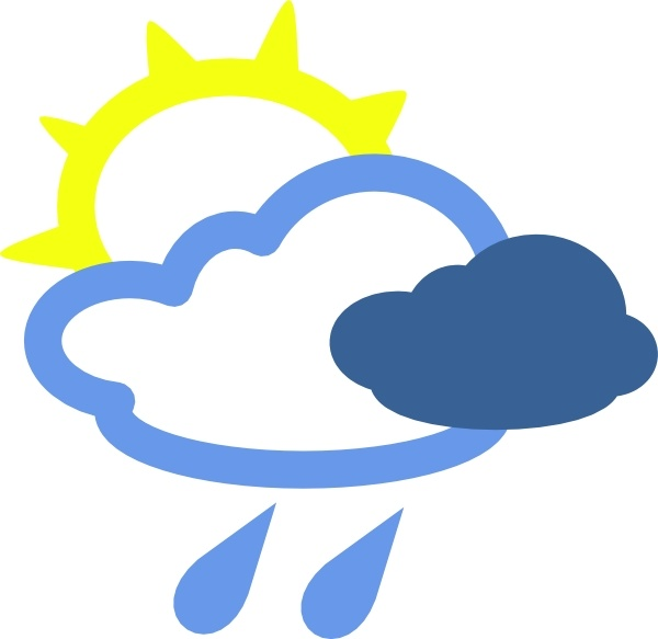 Sun And Rain Weather Symbols Clip Art Free Vector In Open Office