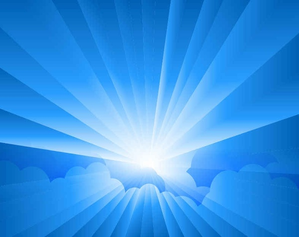 sun burst with rays background free vector in encapsulated