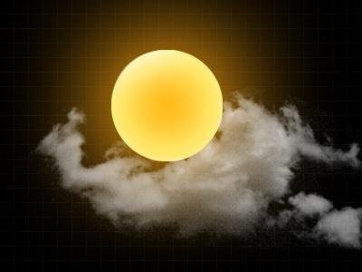 sun icon psd layered