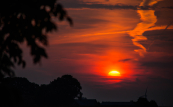 sun on its way up