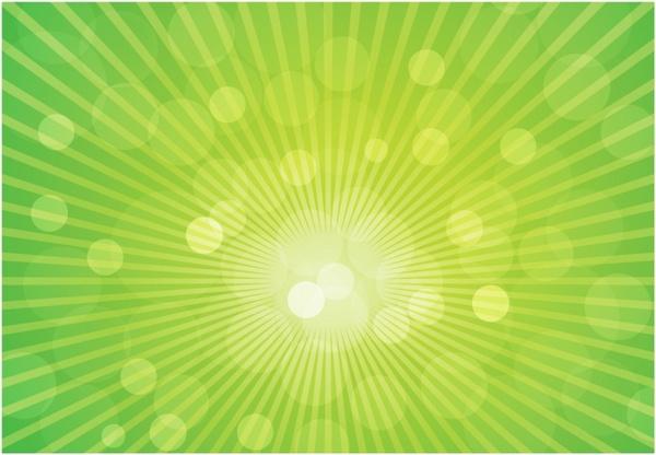 Sun Rays on Green Background