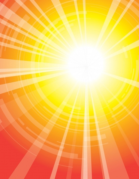 sunshine background vivid colored design rays sun sketch