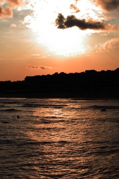sundown on folly beach