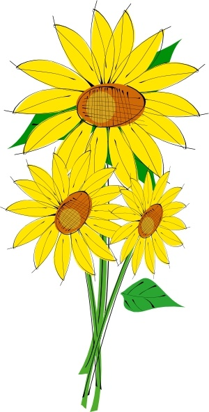 Sunflowers Clip Art Free Vector In Open Office Drawing Svg