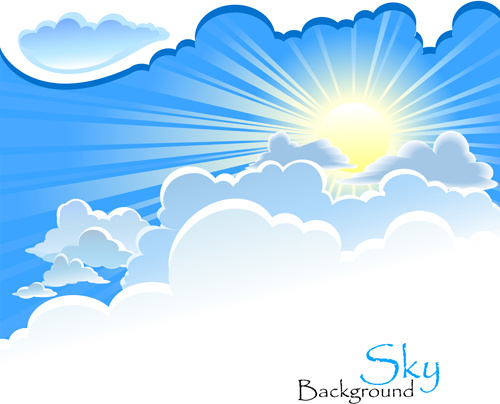 sunny blue sky background vector free vector in encapsulated rh all free download com vector skyline vector skydiving container