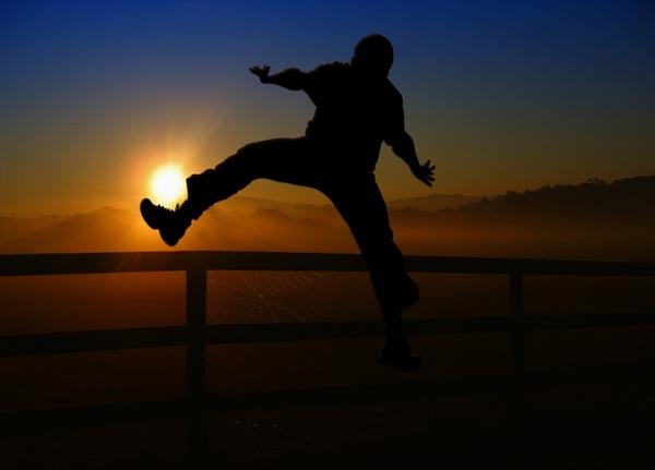 sunrise sunset man
