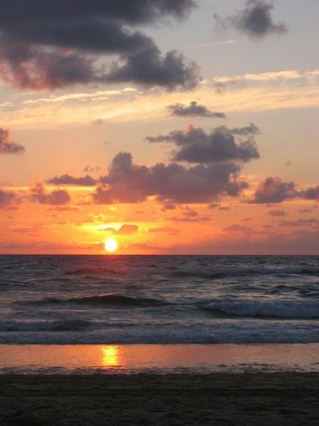 sunset atlantic sea