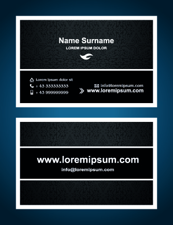 superior business cards design template vector