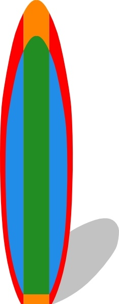 Surfboard Clip Art Free Vector In Open Office Drawing Svg