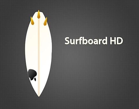 Surfboard HD PSD