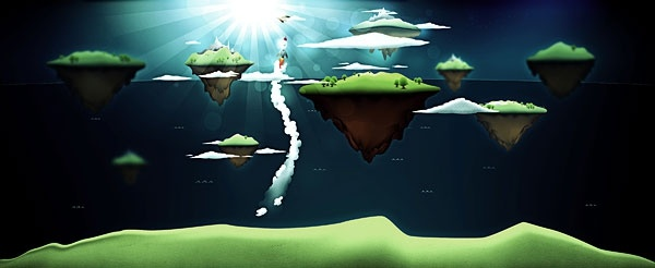 suspended island psd layered some elements ai