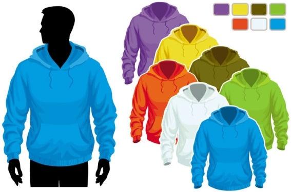 sweater template 02 vector