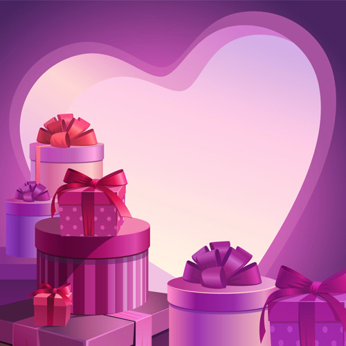 sweet valentine day hearts cards vector