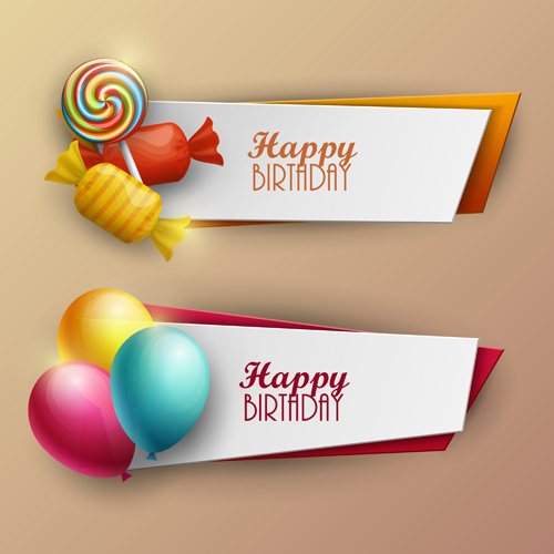 sweet with birthday banner vector