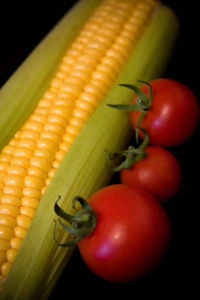sweetcorn and tomato