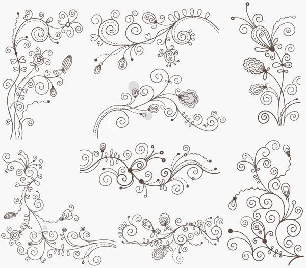 swirl floral decorative