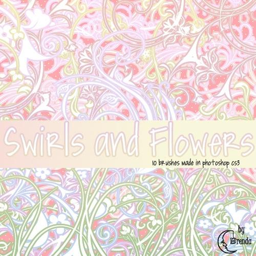 Swirls and Flowers Brushes