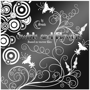 Swirls And Flowers Brushes PS