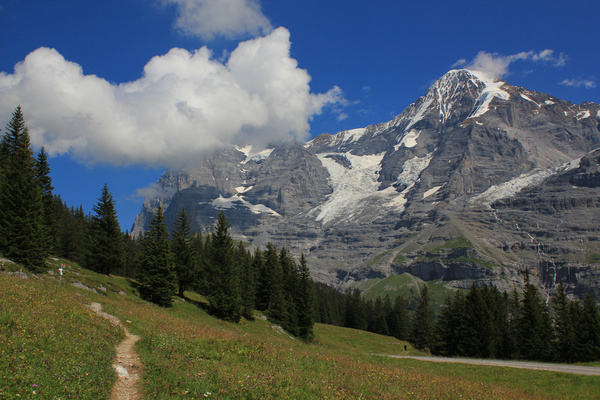 swiss mountains the eiger north face and mnch