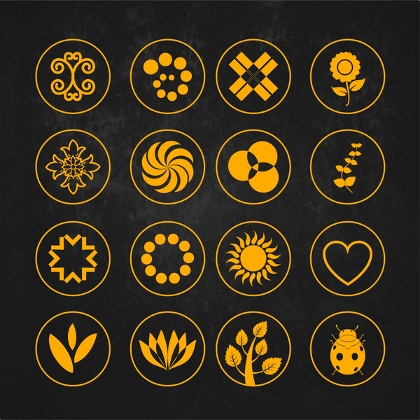 Symbol Design Element Set Free Vector In Adobe Illustrator Ai
