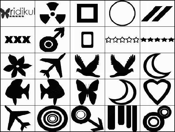 symbols and birds brush