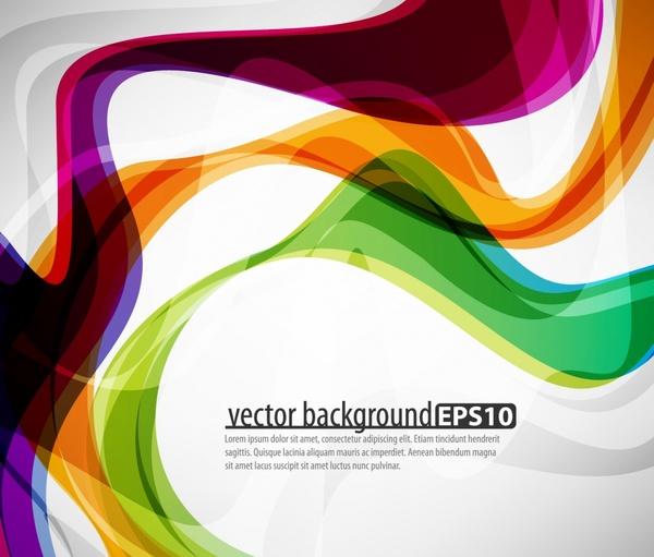 decorative background colorful modern shiny dynamic swirled lines