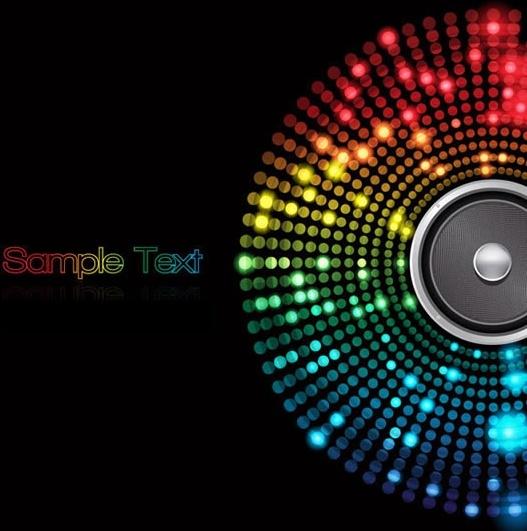 music background colorful bokeh lights modern circle sketch