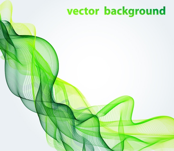abstract background green dynamic 3d curves decor