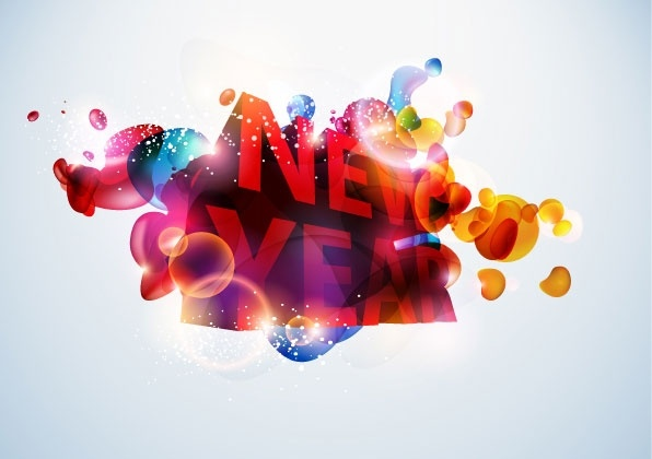 symphony worddimensional fashion new year vector
