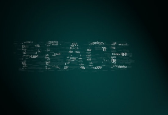 synthetic text psd layered