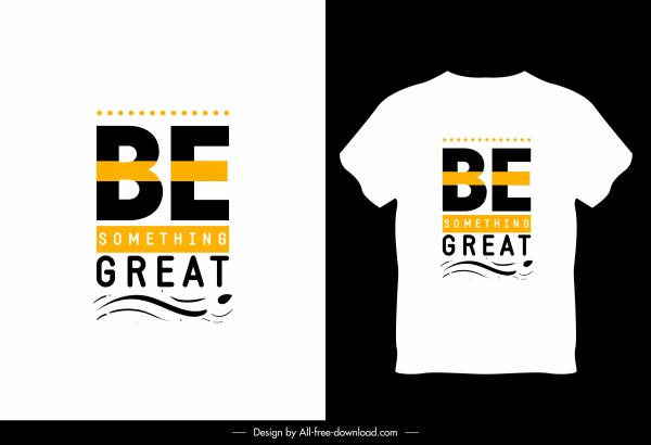 t shirt template white design modern texts