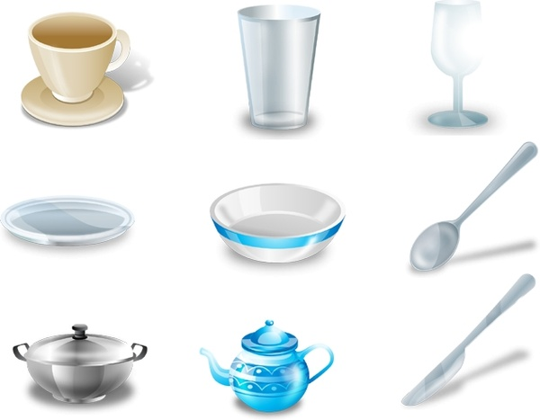 tableware icons icons pack