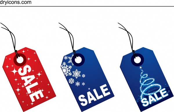 Christmas Sales Tags Templates Modern Red Blue Design Free Vector In Encapsulated Postscript Eps Eps Vector Illustration Graphic Art Design Format Format For Free Download 821 34kb