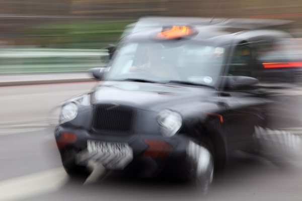 taxi in movement