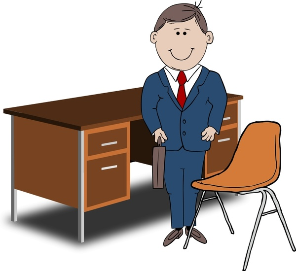 Teacher / Manager between chair and desk  sc 1 st  All-free-download.com & Teacher / Manager between chair and desk Free vector in Open office ...