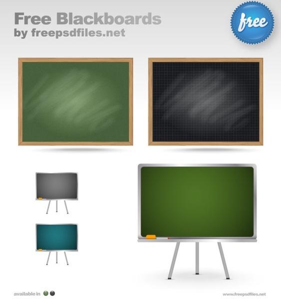 teaching equipment blackboardpsd layered