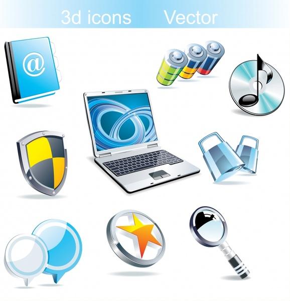 computing design elements modern 3d symbols
