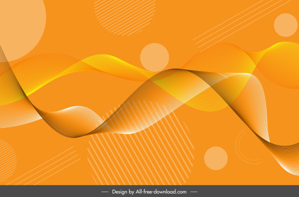 technology background modern 3d dynamic wave bright yellow