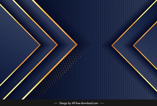 technology background modern dark elegant blue golden geometric