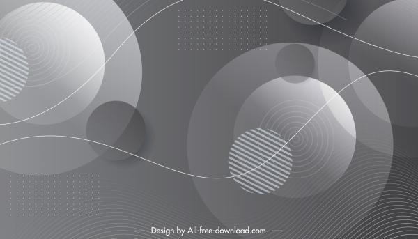 technology background template dynamic grey circles decor