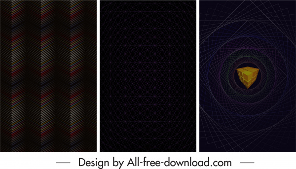 technology background templates dark modern illusion decor