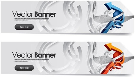 technology banner templates modern colored 3d arrows motion