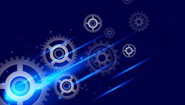 technology concept background gears decoration spakling light effect