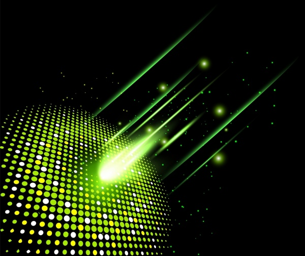 technology concept background sparkling light effect decoration
