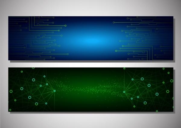 technology concept background spots connection decoration