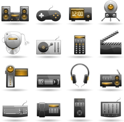 technology products icon 02 vector