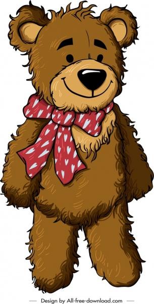 teddy bear template smile decor cute cartoon sketch